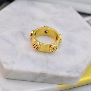 Tory Burch Glossy Cutout Logo Ring